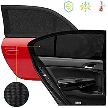 MerryXD Car Window Shade,【2019 Upgrade Version】 Breathable Mesh Car Rear Side Window Shade Cover Full Windows-Universal Fit for Most of Cars-Protect Kids Pet from The Sun,UV Rays-2 Pack 95/%