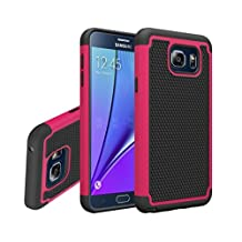 Galaxy Note 5 Case, Gefee® Hybrid Hard Cover [Drop Protection] Printed Design Pc+ Silicone Hybrid High Impact Defender Case Combo Hard Soft Case Cover for Samsung Galaxy Note 5 (Red)