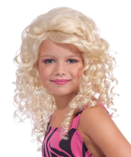 Material Girl Costume Madonna (Forum 80's Pop Star Child Wig, Blonde)