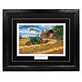 ''Oliver Twist'' - Charles Freitag, John Deere Farm Tractor and Nature Classic Wall Art Print for Home / Office / Hotel / Cabin / Gift, 17 x 21 in., Black Mat / Black Frame – More Frames Available