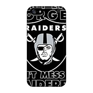 Apple Iphone 5/5s GXy10108iRZp Support Personal Customs Colorful Oakland Raiders Pattern Anti-Scratch Hard Phone Cover -KimberleyBoyes