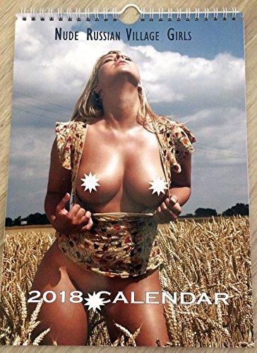 Hot Nude Russian Village Girl Wall Calendar 2018 Erotic Glamour Sexy Nude Girl A4 New - Nude Calendar