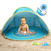 MULGORE Tent Play Tent Canopy Tent Baby Beach Tent Portable Lightweight Pop Up Tent Outdoor Beach Shade UV Protection Sun Shelters Baby Pool(Blue)