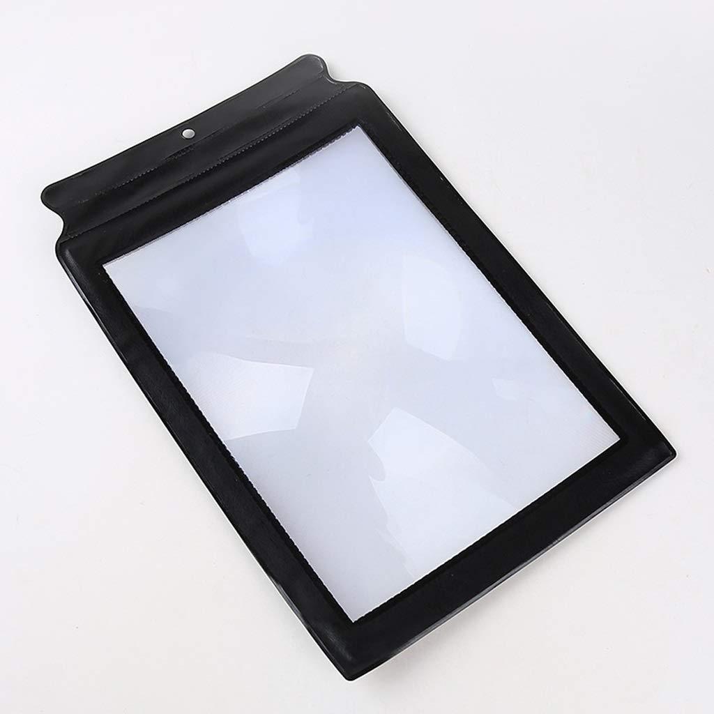 Tama/ño de Papel A4 P/ágina Completa Lectura Lupa HD 10 Veces Material de PVC para Personas Mayores para Leer el peri/ódico