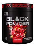 MRI Black Powder Pre-Workout Powder - Explosive Energy & Stamina - Intense Strength and Focus - Build Muscle - Recover Faster - Creatine - 60 Servings (Cherry Bomb)