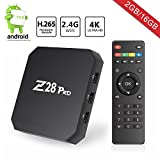 Android TV Box, Z28 Pro Smart TV Box Android 7.1 OS 2GB RAM 16GB ROM, RK3328 Quad-Core 64Bit / Support Expanded Storage up to 64GB / 2.4G WiFi / VP9 H.265 / DLNA AirPlay / 4K Smart Media Player