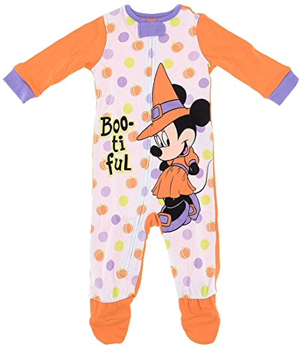 Disney Baby Girls' Boo-Tiful Minnie Mouse Sleeper 6-9 Months ()
