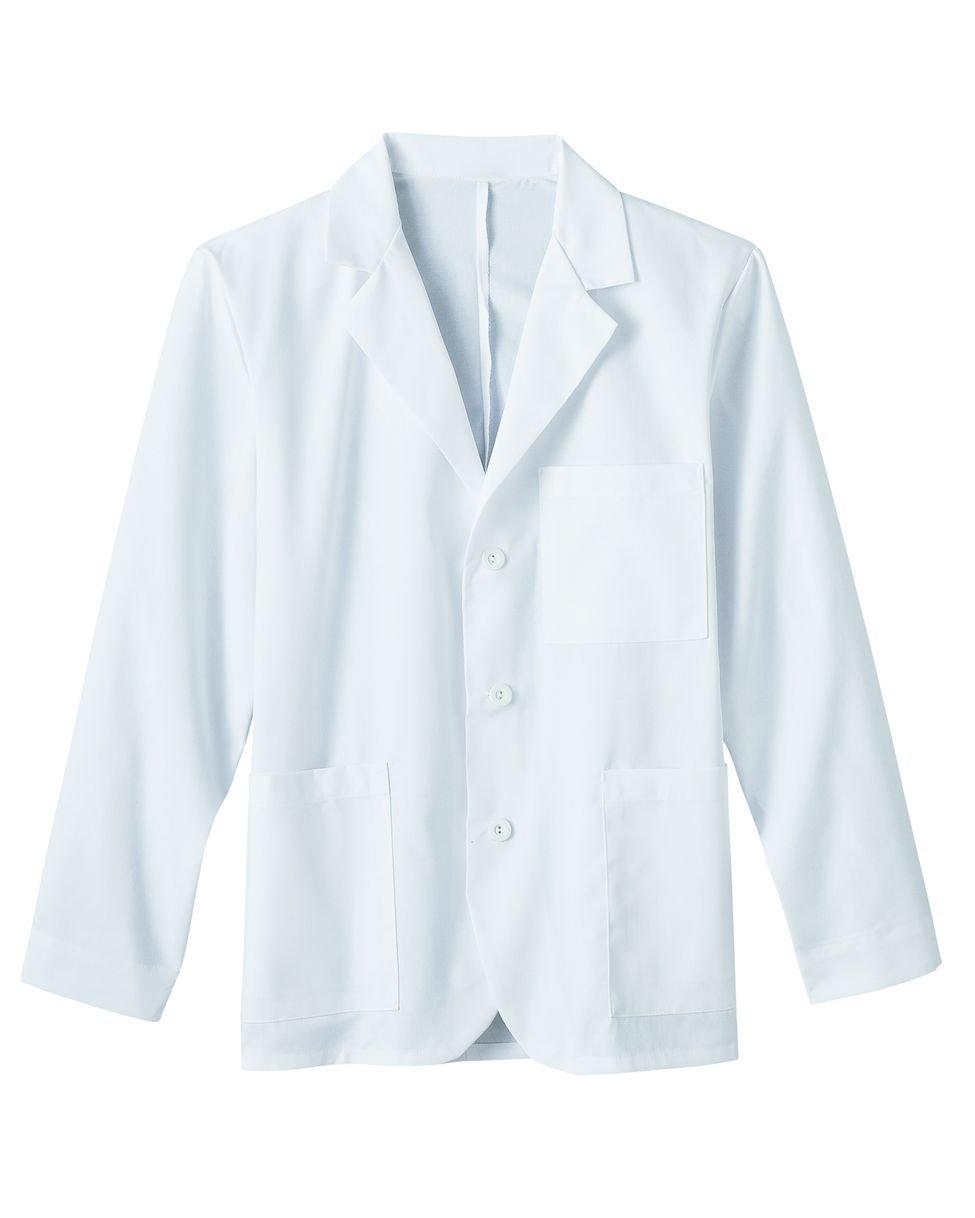 META Labwear Men's 6-Pocket Consultation Lab Coat White