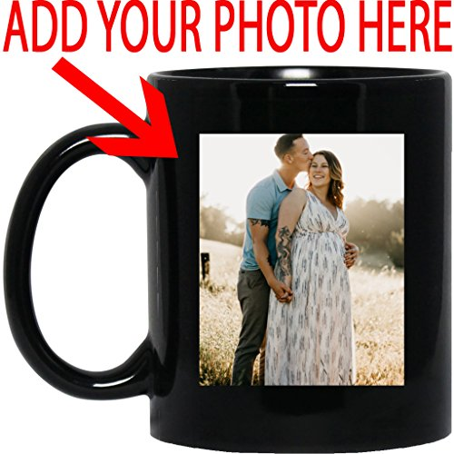 Personalized Coffee Mug for Father Day - Add Your Photo/Logo to Customized Travel, Beer Mug - Great Quality for Gift (Black, 11 oz) -