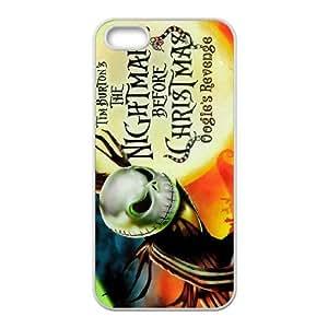 Q5L20 Pesadilla antes de Navidad iPhone funda H3I1RC 5 5s funda caja del teléfono celular cubre AR0NVJ2DA blanco