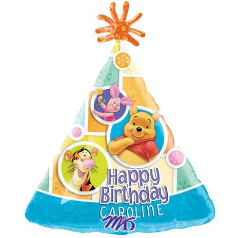 Winnie the Pooh Personalized 18in Balloon ()