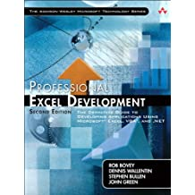 Professional Excel Development: The Definitive Guide to Developing Applications Using Microsoft Excel, VBA, and .NET (2nd Edition) (Addison-Wesley Microsoft Technology Series)