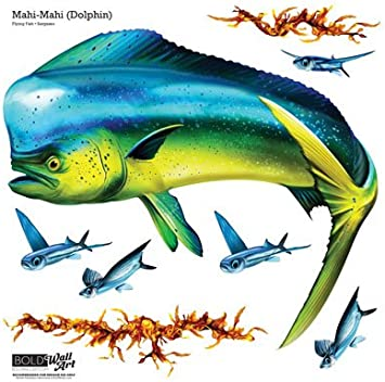 Mahi Dolphinfish Decals Bumper Stickers Right Left Facing Gifts Fishing Men Boys