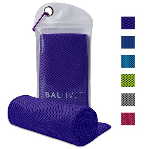 Balhvit Cooling Towel, Ice Towel, Microfiber Towel For Instant Cooling Relief, Cool Cold Towel for Yoga Beach Golf Travel Gym Sports Swimming Camping as Cooling Neck, Headband, Bandana