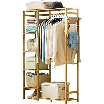 Amazon.com: COPREE Bamboo Garment Coat Clothes Hanging Heavy ...