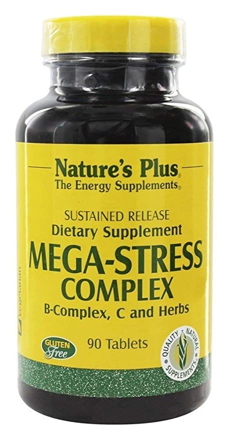 Mega Stress Complex Time Release Natures Plus 90 Sustained Release Tablet by Natures Plus: Amazon.es: Salud y cuidado personal