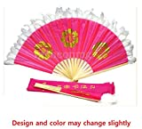 Korean Traditional Fan Dance Fan 10 Set of 1 Pair(2 pieces) for Student Bamboo Frame