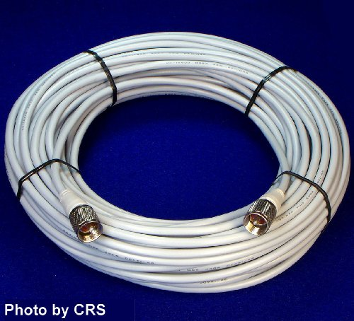 100 ft RG8X COAX CABLE for CB / Ham Radio w/ PL259 Connectors - Workman 8X-100-PL-PL (Rg8 Coax)