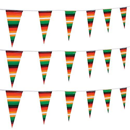 Fun Express - Serape Pennant Banner for Cinco de Mayo - Party Decor - Hanging Decor - Pennants - Cinco de Mayo - 1 Piece ()