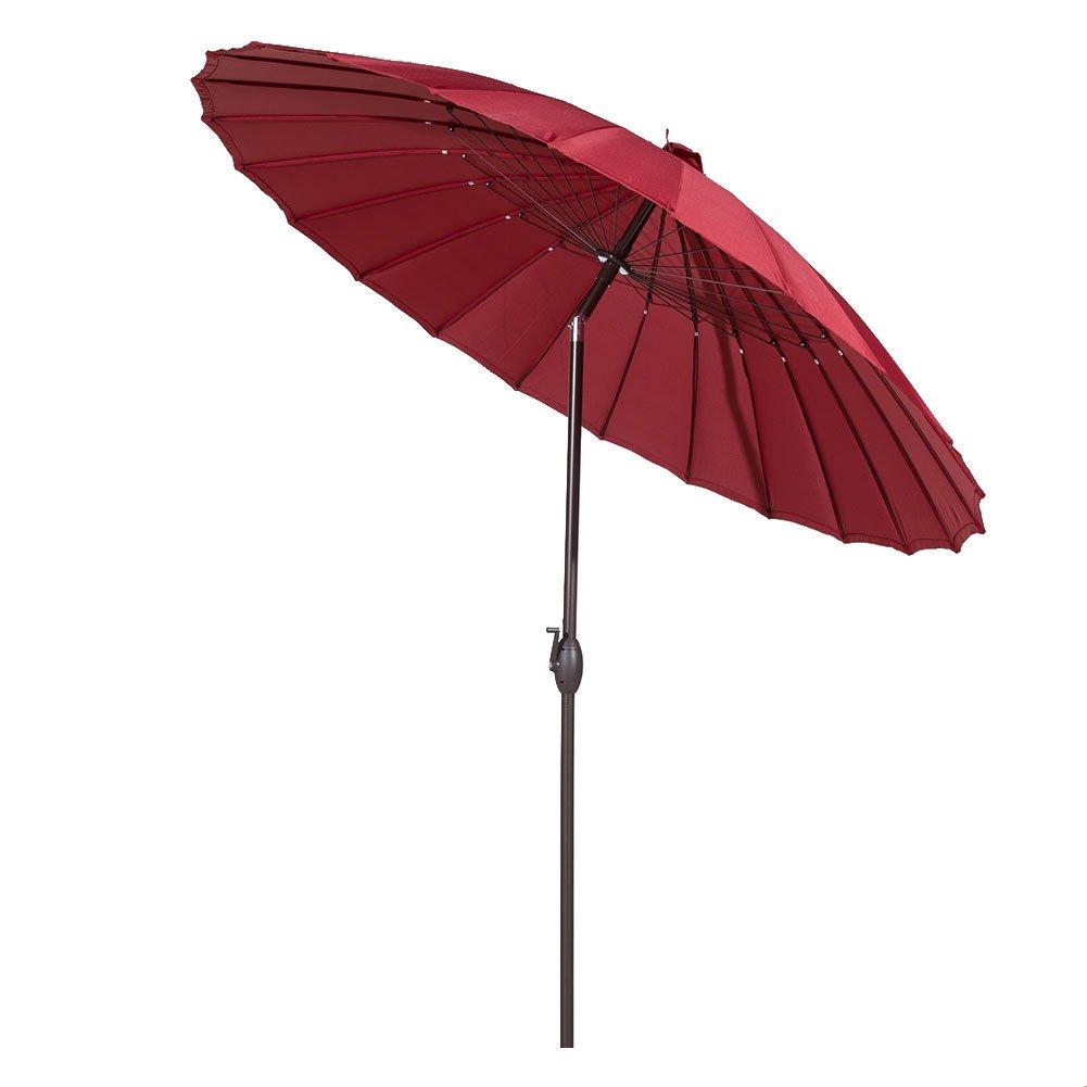 New! 8.5' Round Red Outdoor Patio Umbrella 24 Steel Wire