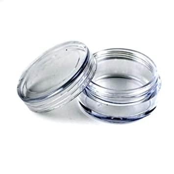 Amazon.com : 50 New Empty Clear Plastic Cosmetic Containers 3 Gram ...