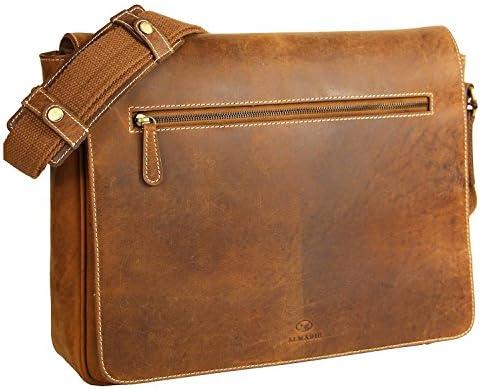 sac Homme porte documents ordinateur serviette Malette Vintage Cartable sacoche épaule porté Marron femme portable notebook Messenger business Besace waqxHEf