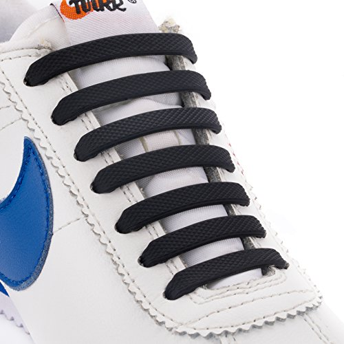 INMAKER No Tie Shoelaces for Kids and Adults, Silicone Elastic Shoelaces for Sneaker, Flat Tieless Shoe Laces for Outdoor Sport – DiZiSports Store