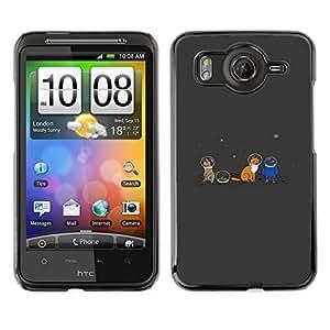 // PHONE CASE GIFT // Duro Estuche protector PC Cáscara Plástico Carcasa Funda Hard Protective Case for HTC G10 / Space Animals On Moon /
