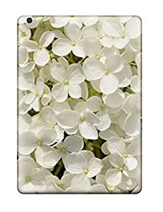 Flexible Tpu Back Case Cover For Ipad Air - White Flowers 8979842K63817039
