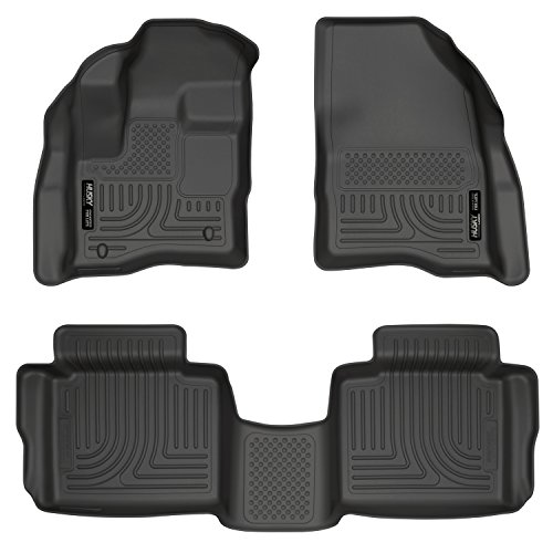 Husky Liners 98701 Black Front & 2nd Seat Floor Liners Fits 10-19 Taurus