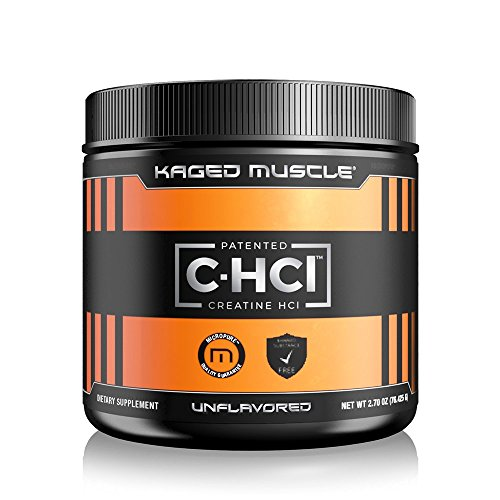 KAGED MUSCLE – Creatine HCl Unflavored Powder – 75 Servings, Patented Creatine Powder