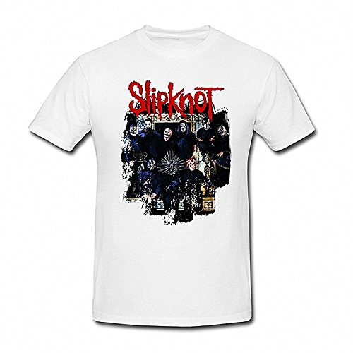 Drong Men's Slipknot Band Images T-Shirt XXL White (Pretty Little Liars Halloween Photos)