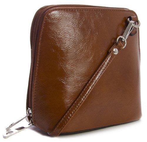 Big Handbag Shop - Bolso cruzados de sintético para mujer One Marrón Canela