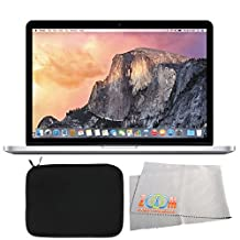 """Apple 15.4"""" MacBook Pro Laptop Computer with Retina Display & Force Touch Trackpad (FJLQ2LL/A) + Laptop Sleeve + Microfiber Cleaning Cloth (Certified Refurbished)"""