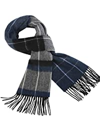 100% Wool Mens Scarf Plaid Winter Warm Fashion knit Scarfs For Men