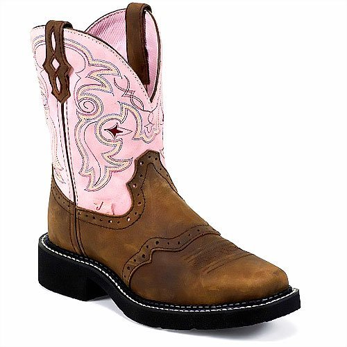 Justin Ladies Aged Bark - Justin Style L9963 Women'ss Boots - Size : 6.5 B