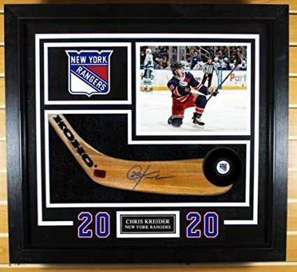 Image Unavailable. Image not available for. Color  Chris Kreider New York  Rangers Signed Autographed ... 4211495d8