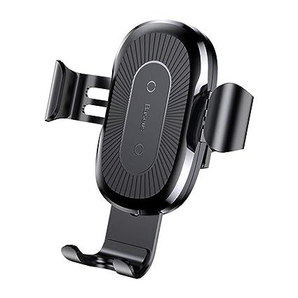 CZWXCD Coche Qi Cargador inalámbrico, para el iPhone XS MAX X 8 10W Fast Wireless Cargador de Coche inalámbrico de Carga para Samsung S10 Xiaomi mi 9