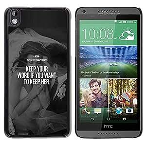Caucho caso de Shell duro de la cubierta de accesorios de protección BY RAYDREAMMM - HTC DESIRE 816 - Love Word Heartbreak Couple