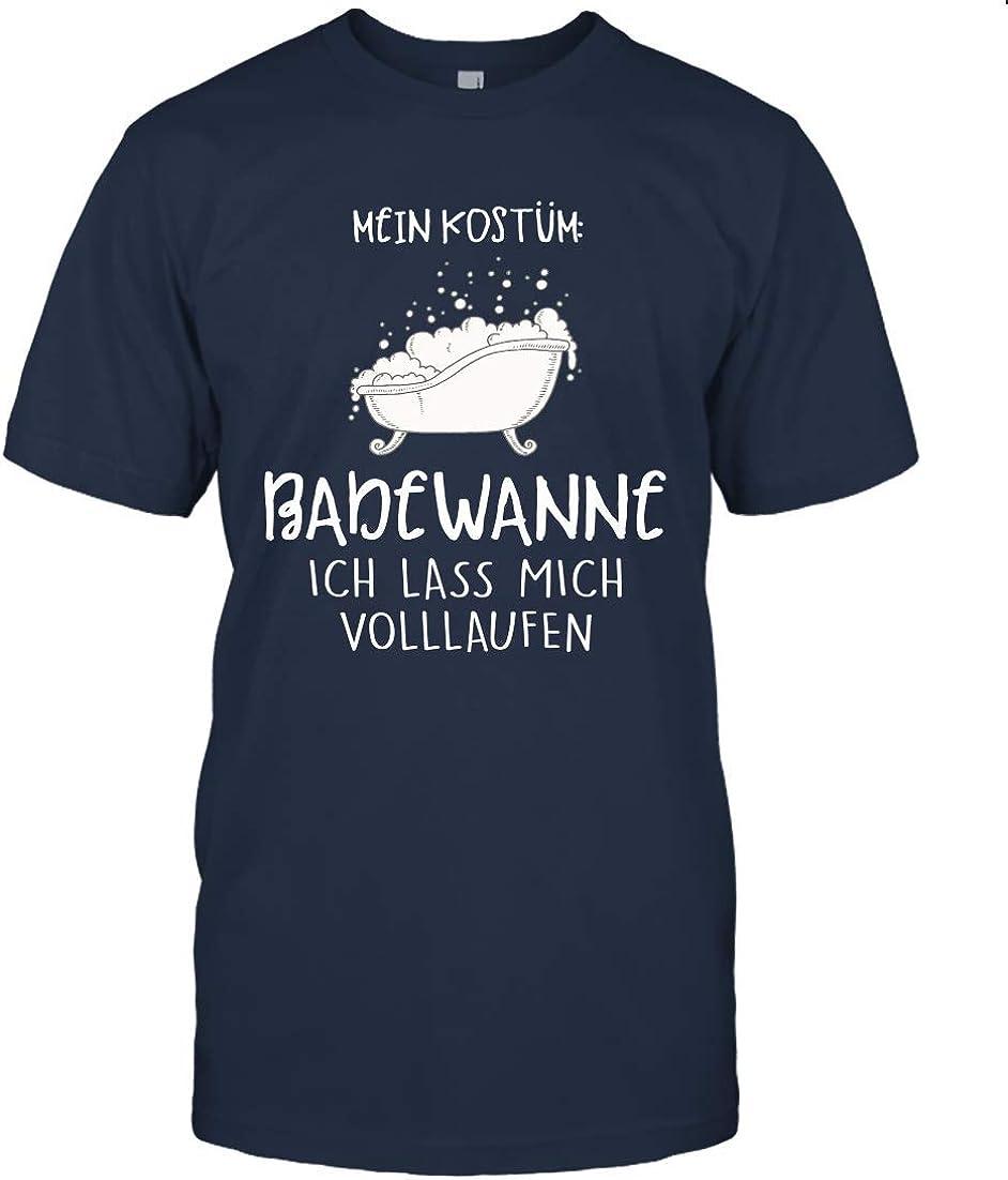 Dilostyle Mein Kost/üm Badewanne Ich Lass Mich Volllaufen Shirt 75