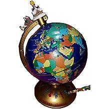 Mr Christmas 'Seasons Greetings Around the World', Interactive Talking Globe, 12 Inches