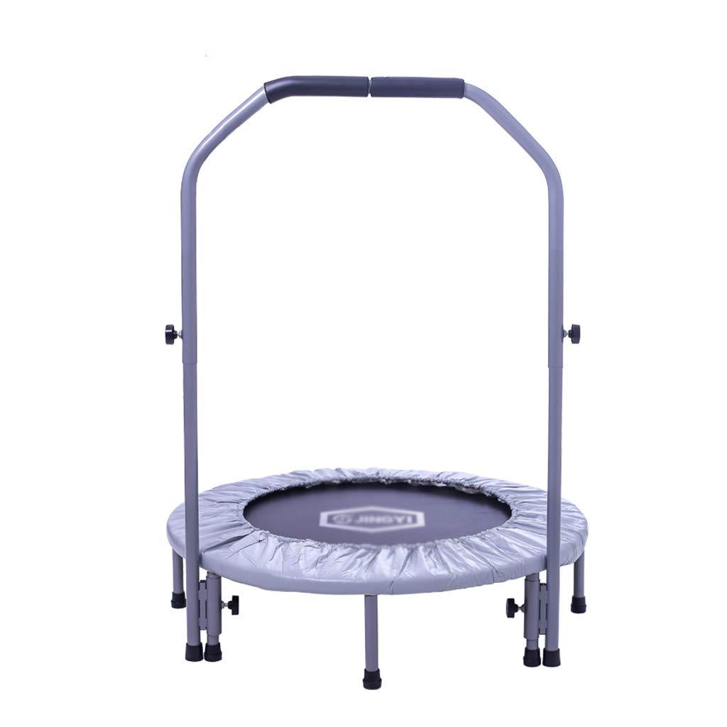 Gartentrampoline Trampolin-Fitness-Sprungbett für Erwachsene für Innenbereich Trampolin-Kinderspielzeug-Federbett Springbett für Kinder faltbar mit Armlehnen tragend 100kg