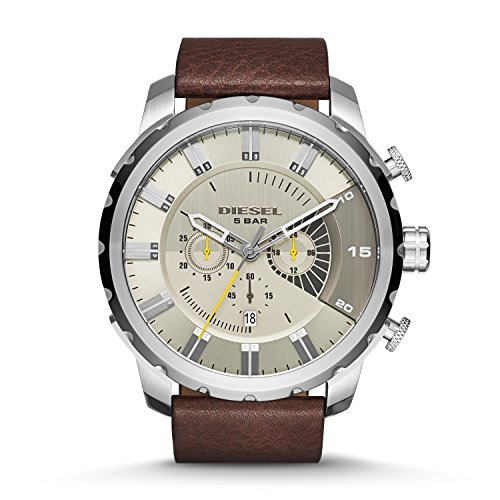 diesel-mens-dz4346-stronghold-stainless-steel-brown-leather-watch