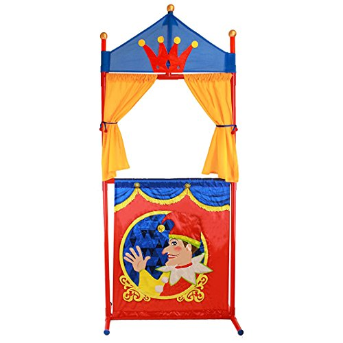 (IQ Toys Deluxe Puppet Theater Fold-Able and Easy to Store)