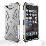 Iphone 6 Plus 6s Plus Case, Lwang Aviation Aluminum Anti-scratch Strong Protection Metal Case for Iphone 6s Plus, Hollow Design Full Signal Iphone 6 Plus 6s Plus Thor Case (Silver)