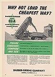 1952 Barber-Greene Model 82-A Crawler Mounted Bucket Loader Print Ad (67708)