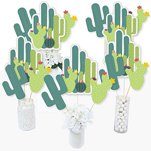 Prickly Cactus Party - Fiesta Party Centerpiece Sticks