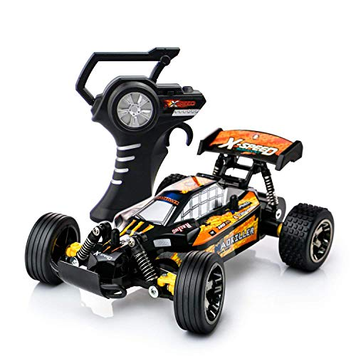 (FREE TO FLY RC Cars Remote Control Car 2.4GHz High Speed Off Road Vehicles 1:22 Scale RTR Car Racing Games Kids Adult 2 Rechargeable Battery, Medium,)
