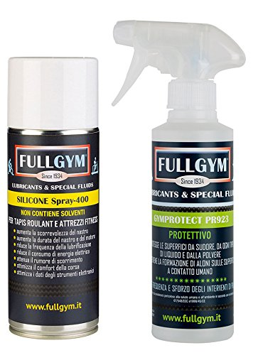 Kit Lubrificante Silicone spray + protettivo Gymprotect PR 923 - per Tapies Roulant e attrezzi fitness SPORT PERFORMER