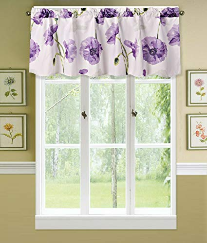 Sapphire Home 1PC Rod Pocket Floral Valance 54